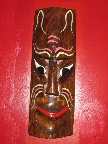 Tiki mask at New China Tea in West Elsdon. Photo: John Greenfield