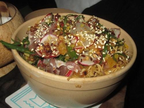 Pan-fried noodles/Photo: David Hammond