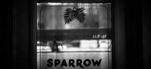 Sparrow sign, photo Nick Fochtman
