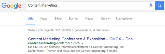 Die Meta Description in Google