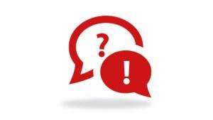 Sprechblasen Frage und Anwort