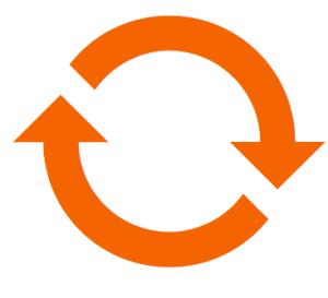 Schleife in orange