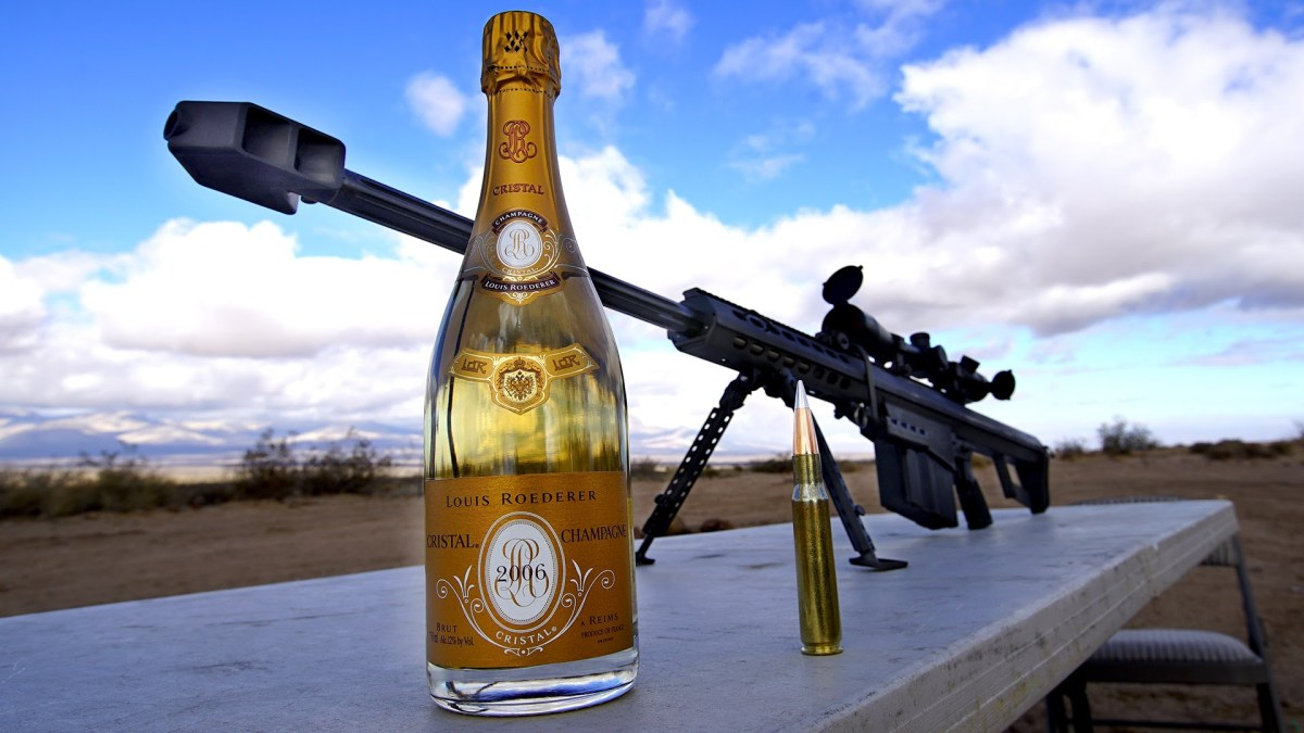 Opening Champagne with a .50 Cal Rifle is Bad Ass