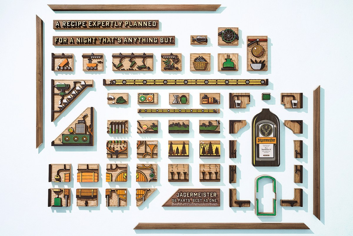 "Jagermeister ""56 Parts. Best as One"" Campaign is Beautifully Puzzling"