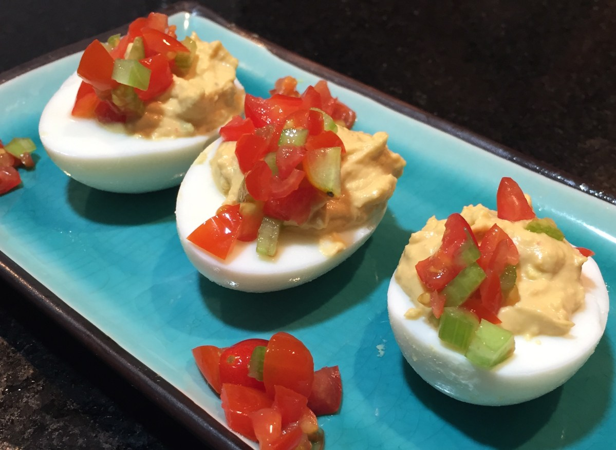 Bloody Mary Deviled Eggs Are Perfect Vodka-Soaked Party Snack