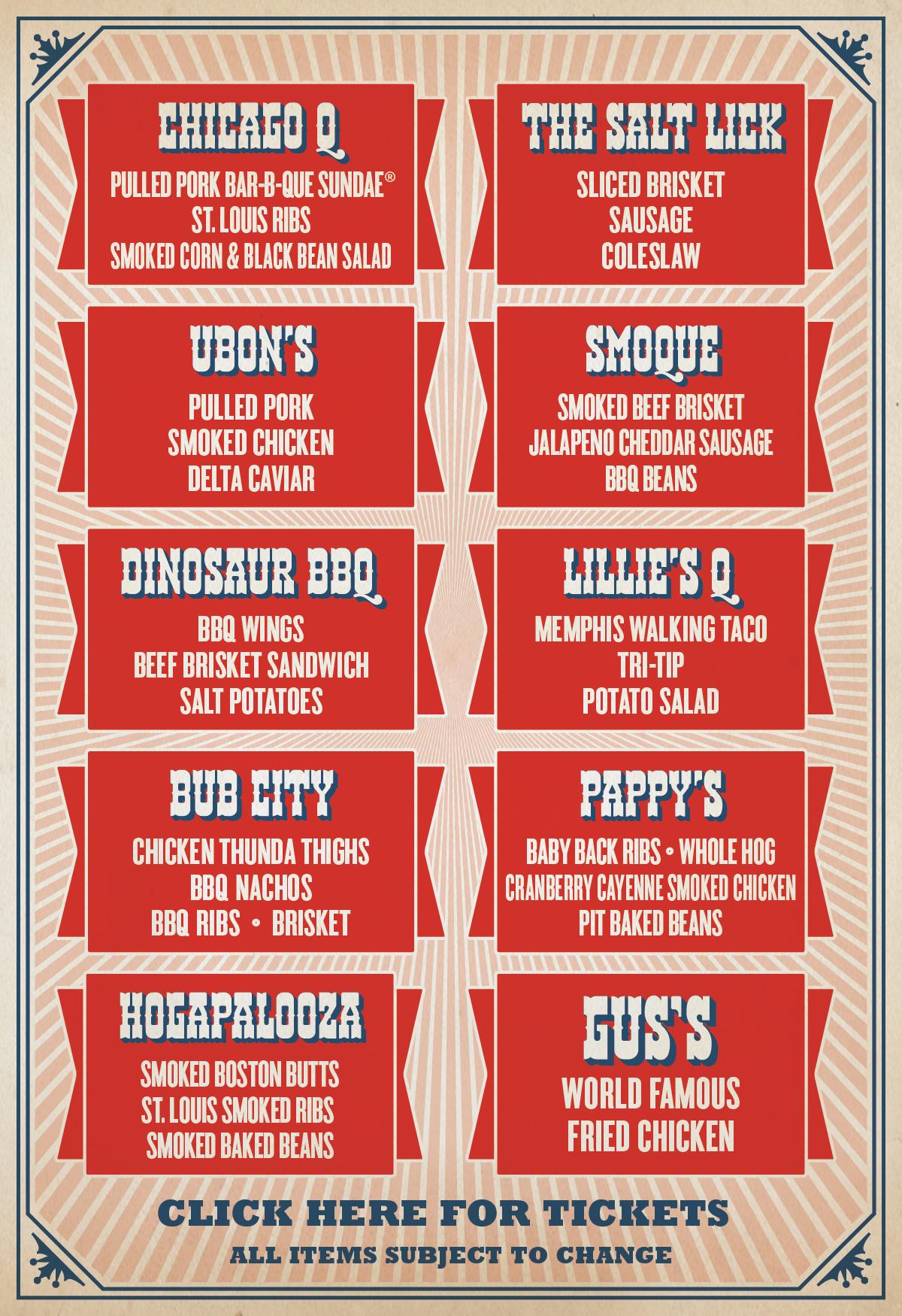 Windy City Smokeout menu
