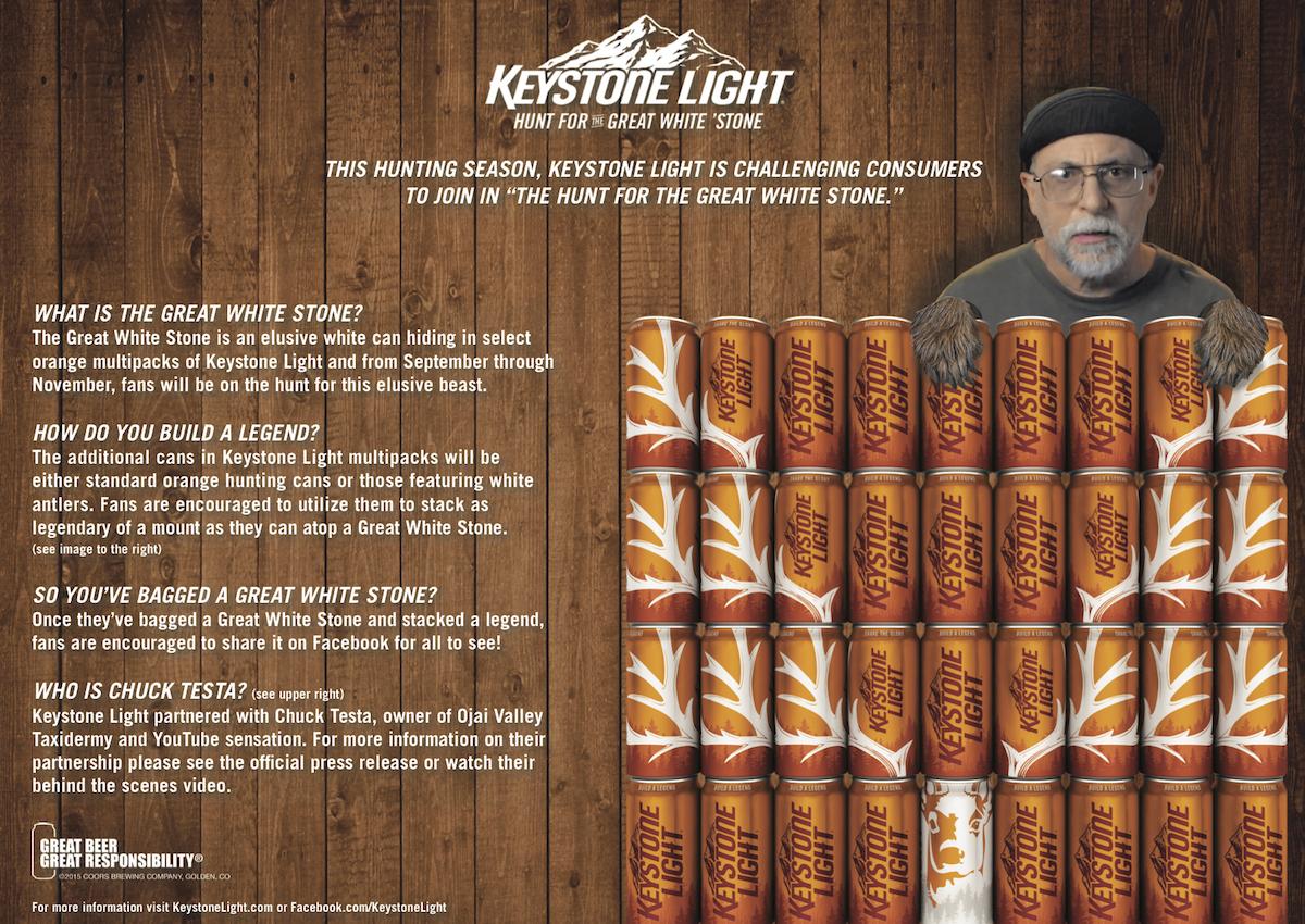 Chuck Testa Keystone Light