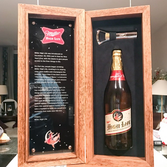 miller high life champagne bottle