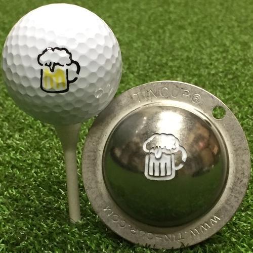Tin Cup Ball Marker – Beer Mug