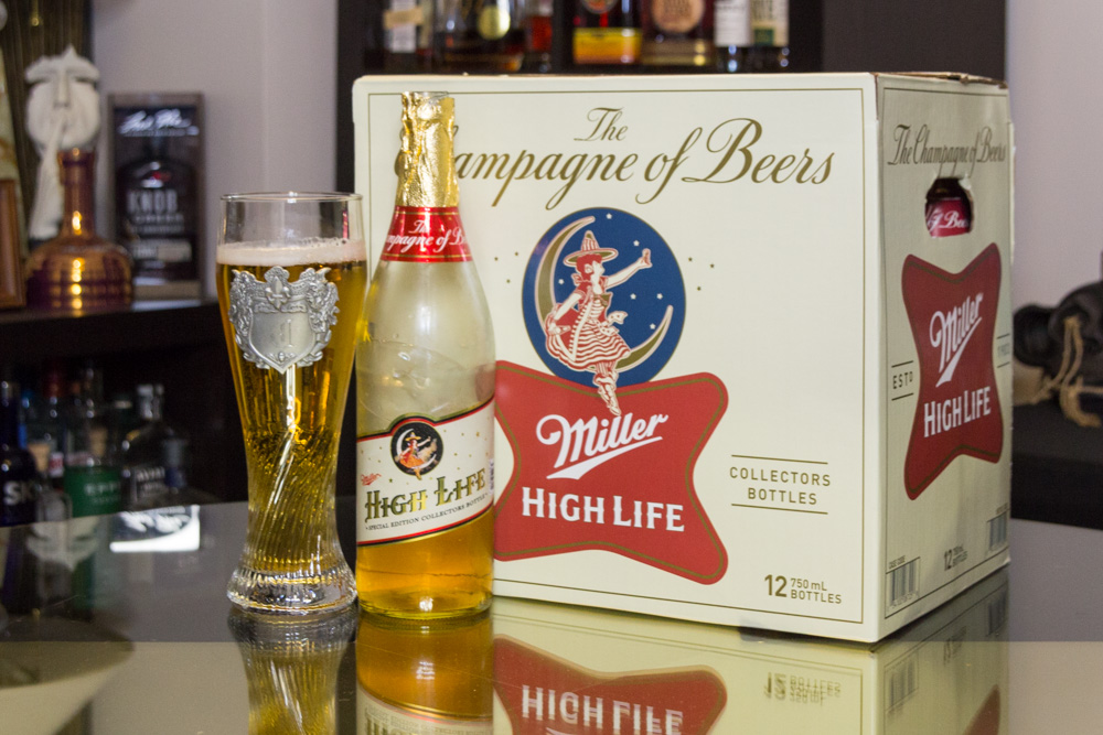 Miller High Life champagne bottles are back again this year!