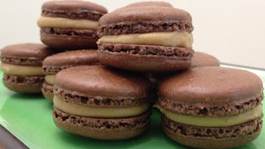 Marrons Glaces (Candied Chestnut) Inspired Macarons