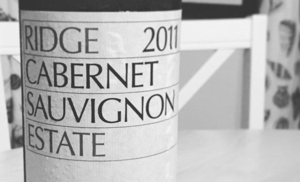 2011 Ridge Cabernet Sauvignon Estate