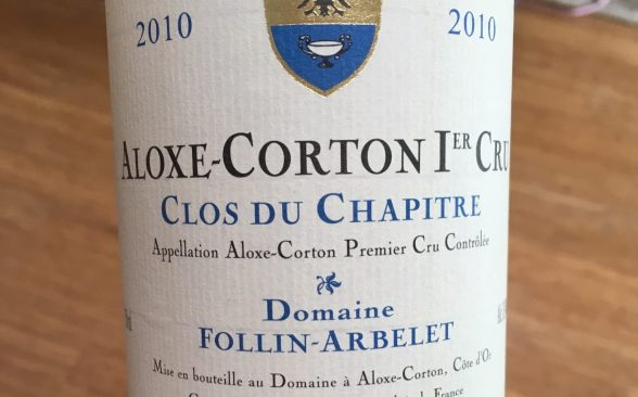 2010 Domaine Follin-Arbelet Clos du Chapitre Aloxe-Corton 1er Cru