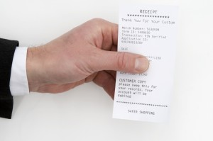 Safer Shopping Receipt
