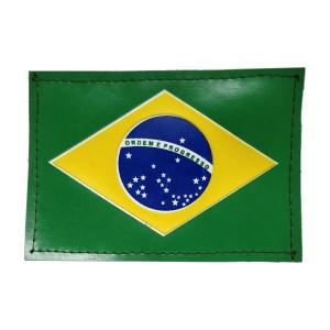 Bandeira do Brasil emborrachada colorida