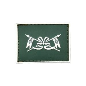 Cavalaria Gola Exército emborrachado verde com branco