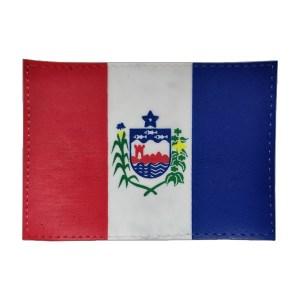 Bandeira do Alagoas, emborrachada, colorida