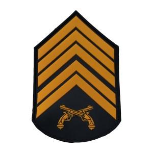 Divisa braço 1º Sgt PMERJ emborrachada cinza (par)