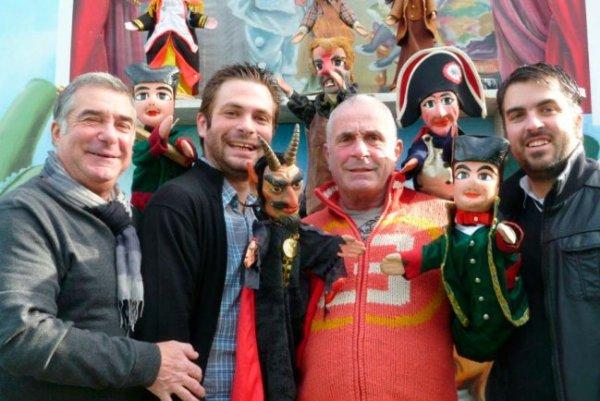 André, Alexandre, Philippe et David Guerin, Guignol Guérin