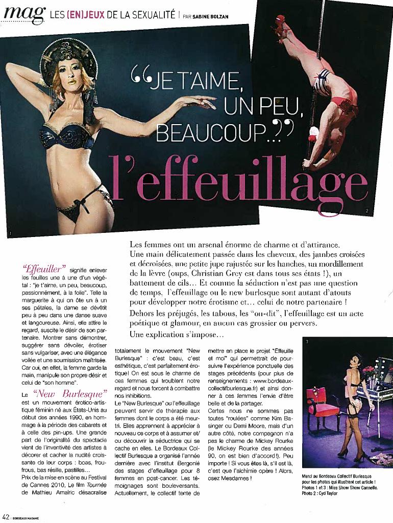 Bordeaux Madame n°63 : Les en(jeux) de la sexualité