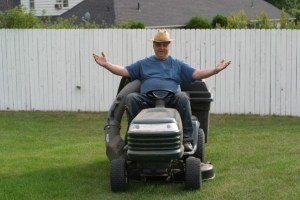 "My father, a.k.a ""Guano the Lawnboy,"" in better times."