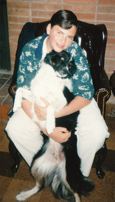 Me and Bonnie Belle in June of 1994