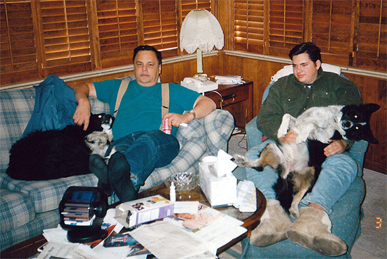 Black Jack, Dad, Bonnie Belle, and Me in March of 1997