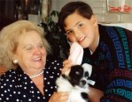 My grandma Margie, me and Bonnie Belle at Easter 1992