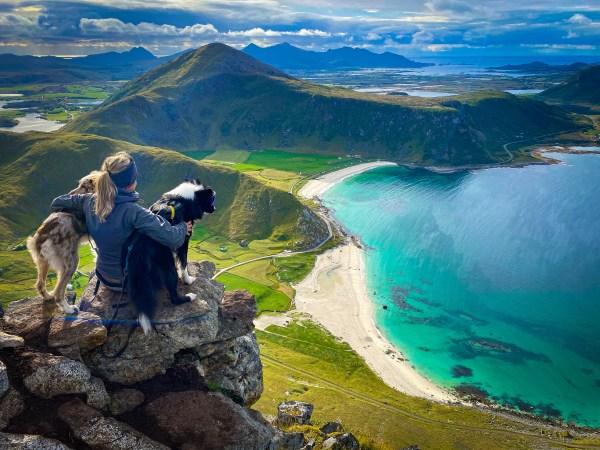 The view from Mannen in Lofoten