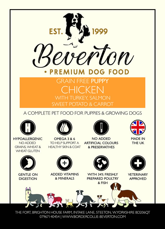 Beverton Grain Free Puppy – Chicken, Sweet Potato, Carrots & Peas