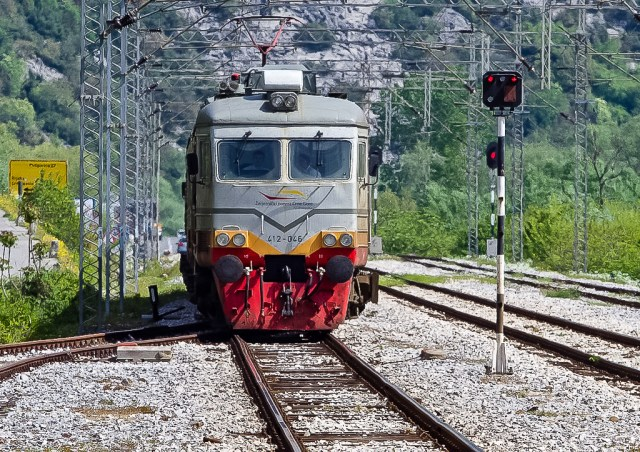 The train I caught from Virpazar to Bar.