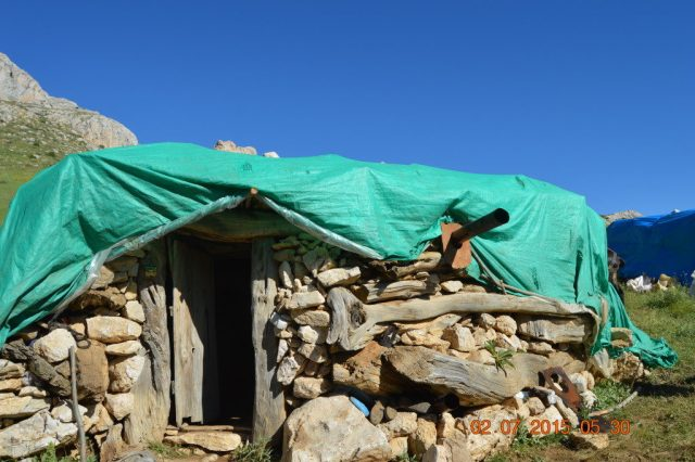 A traditional shepherd's house.