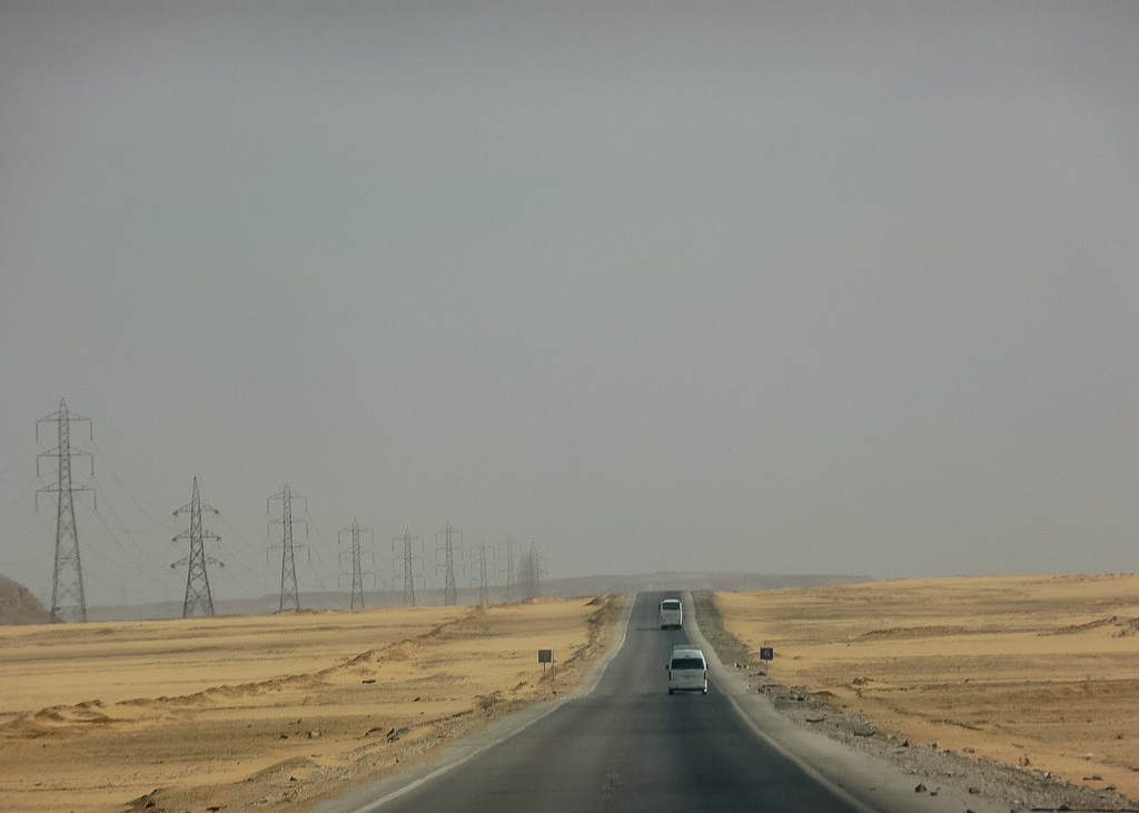 On the road to Abu Simbel, Egypt