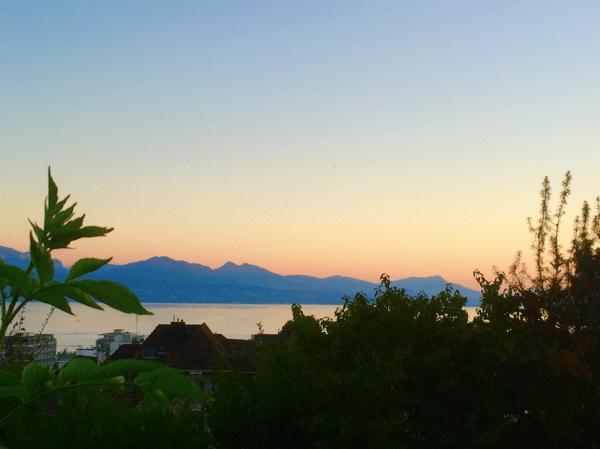 Switzerland Study Abroad Sunset