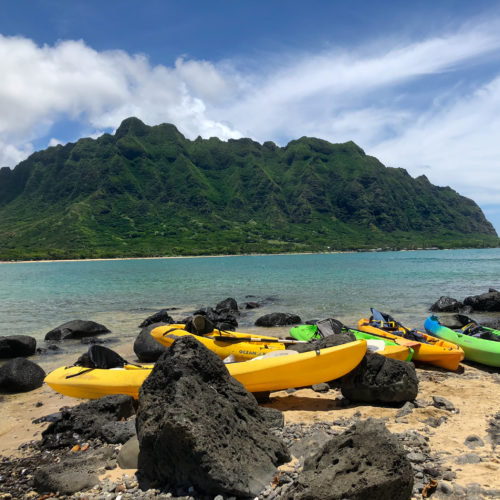 Chinaman's Hat Group of Kayaks