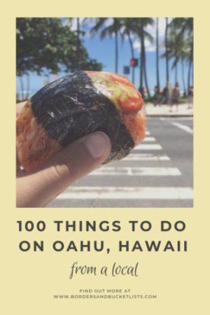 100 Things to on Oahu, Hawaii From a Local#oahu #hawaii #bucketlist #travel