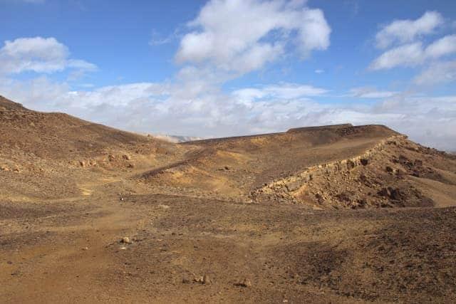 Hiking in the Ramon Crater, Mitzpe Ramon, Negev Desert, Israel