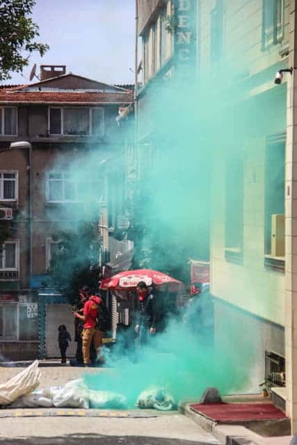 May Day Protests, Taksim Square, Istanbul, Turkey