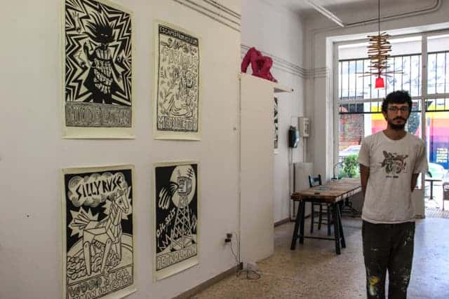 Street Artist gallery in Athens, Greece