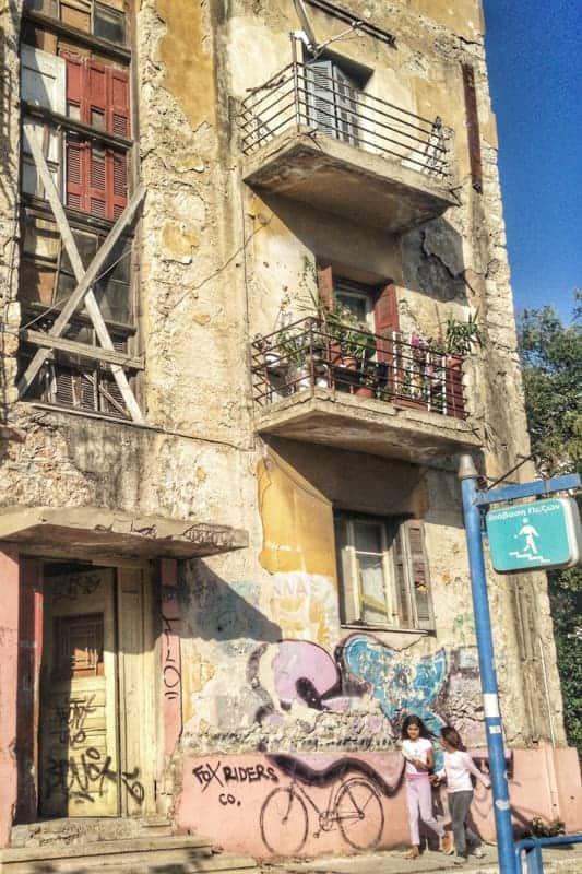 Refugee houses, Gizi, Athens, Greece