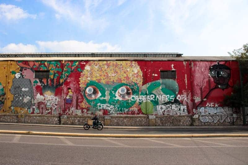 Gazi street art Athens, Greece