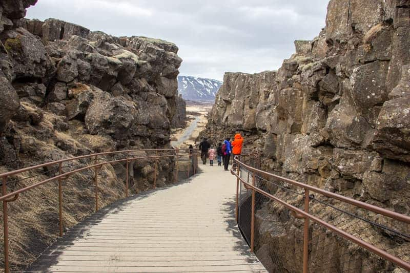 Pingvellie National Park, tectonic plates, Iceland