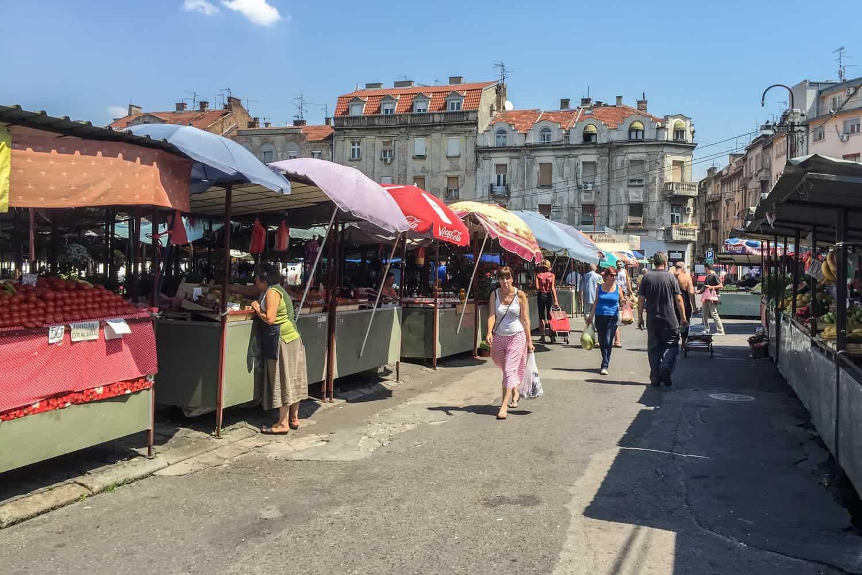 Bajloni Market, Dorcol, Belgrade, Serbia