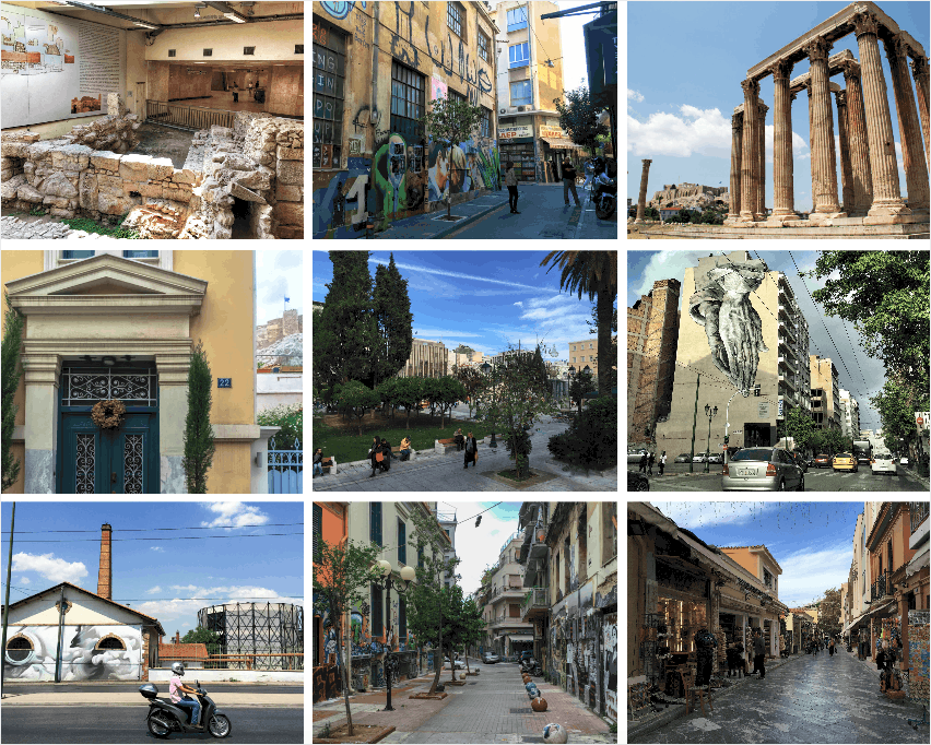 Architecture in Athens. Walking tours in Athens,