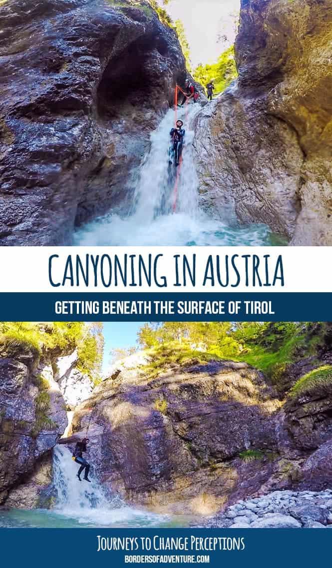 austria canyoning adventure