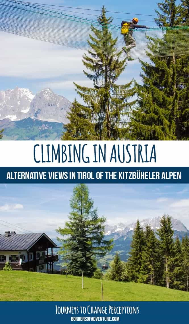 Climbing in austria, Tirol. Summer in Austria. Pin