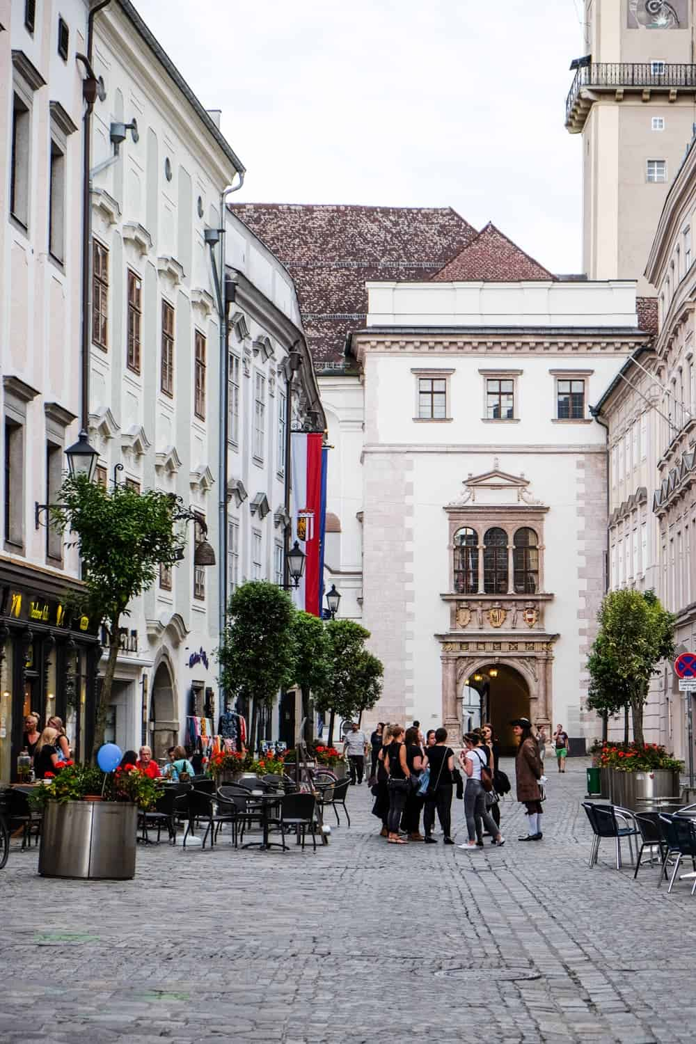 Theatre costume tours in Linz Old Town, Upper Austria