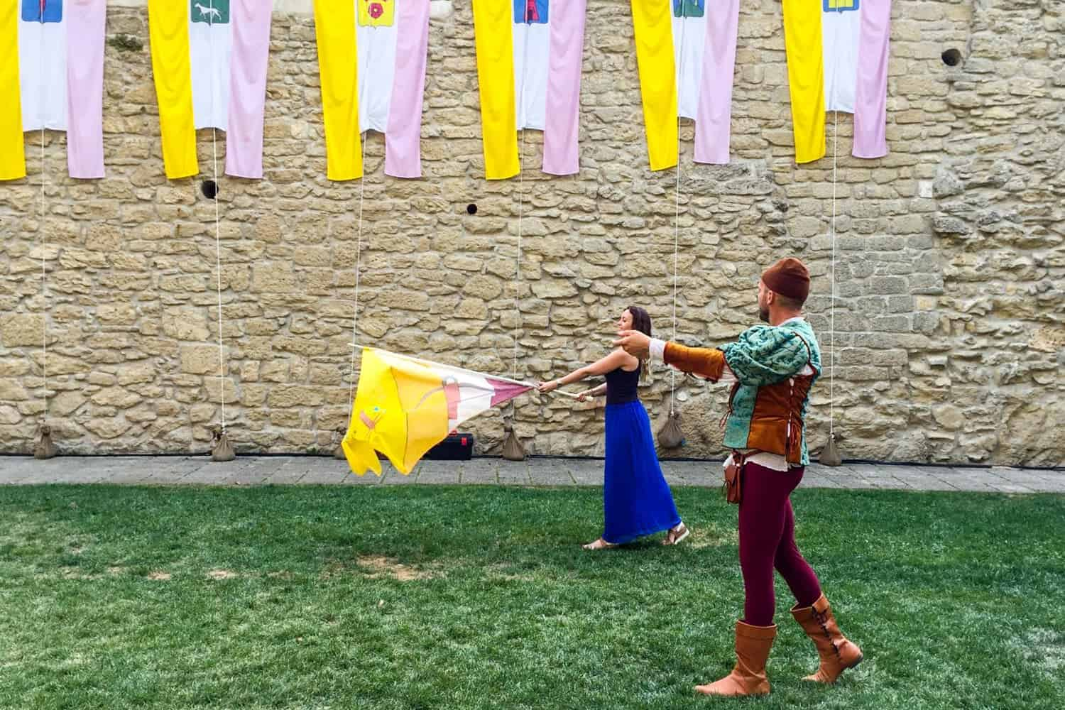 Medieval Festival in San Marino, Medieval Days Flag Waving lesson