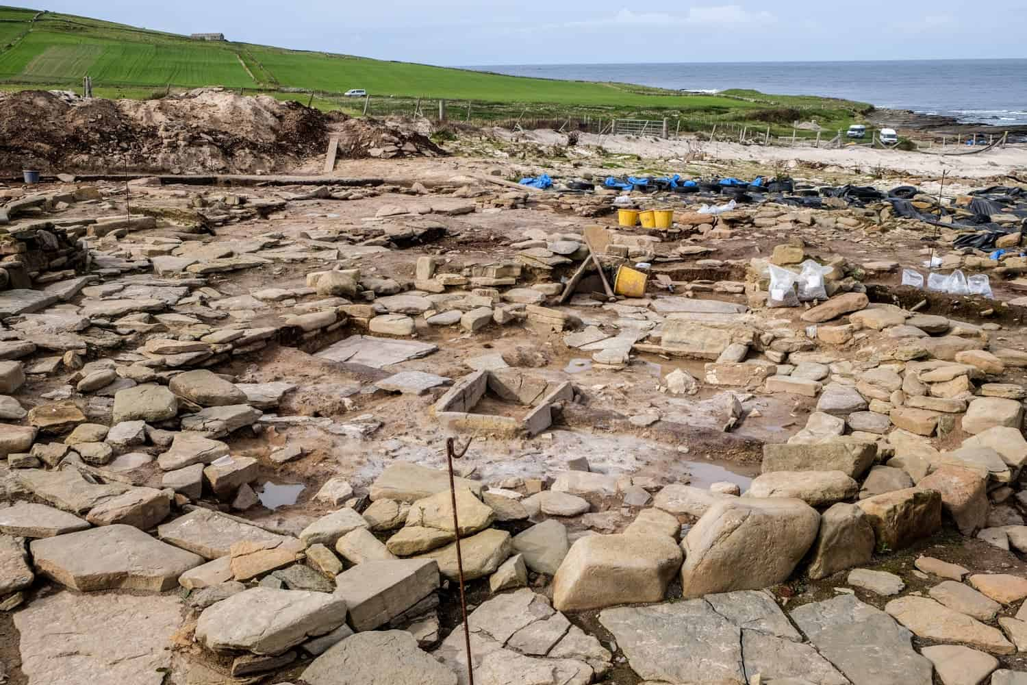 Links of Noltland archelogical site, Westray, Orkney, Scotland