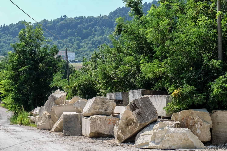 Sandstone of Borgo Maggiore, San Marino, Emilia Romagna, Italy
